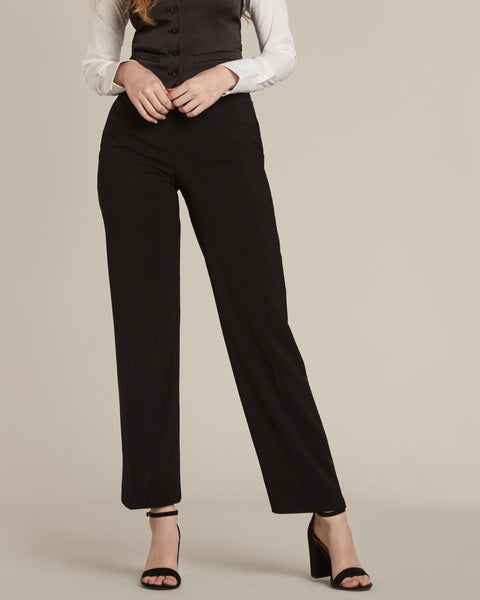 Black Straight / Wide Fit Tuxedo Pants - Women's Tuxedo Suits | girls prom tuxedo | gal tux | Wedding Party, Bridesmaids