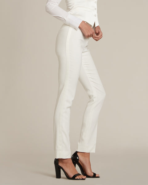 Diamond White Slim Fit Tuxedo Pants