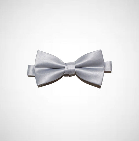 Platinum Poly/Satin Bow Tie - Women's Tuxedo Suits | girls prom tuxedo | gal tux | Wedding Party, Bridesmaids