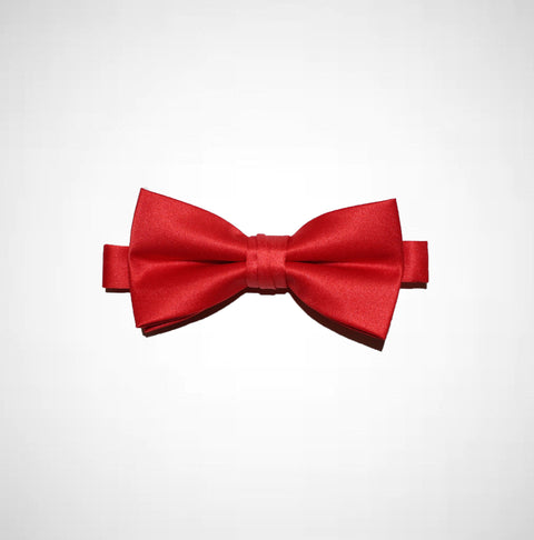 Red Poly/Satin Bow Tie