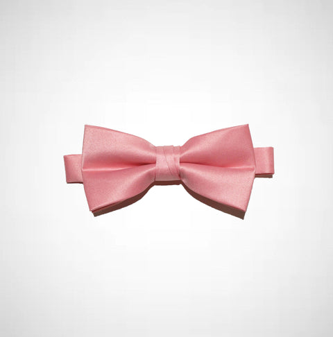 Rose Pink Poly/Satin Bow Tie - Women's Tuxedo Suits | girls prom tuxedo | gal tux | Wedding Party, Bridesmaids