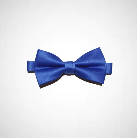 Royal Blue Poly/Satin Bow Tie