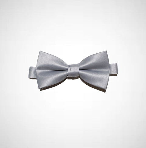 Silver Poly/Satin Bow Tie