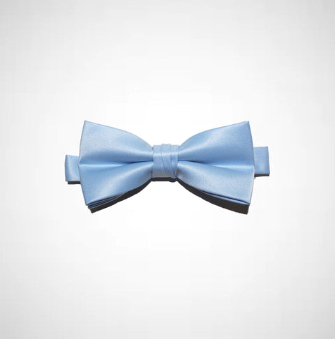 Sky Blue Poly/Satin Bow Tie - Women's Tuxedo Suits | girls prom tuxedo | gal tux | Wedding Party, Bridesmaids