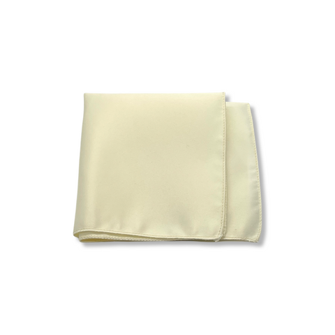 Ivory Cream Poly/Satin Pocket Square