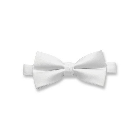 White Poly/Satin Bow Tie