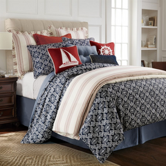 Prescott Navy Bedding Collection