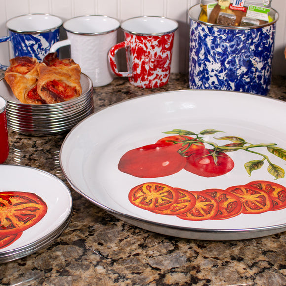 Tomatoes Pattern Enamelware by Golden Rabbit