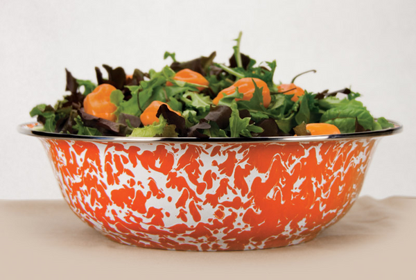 OR03 Orange Swirl Basin by Golden Rabbit