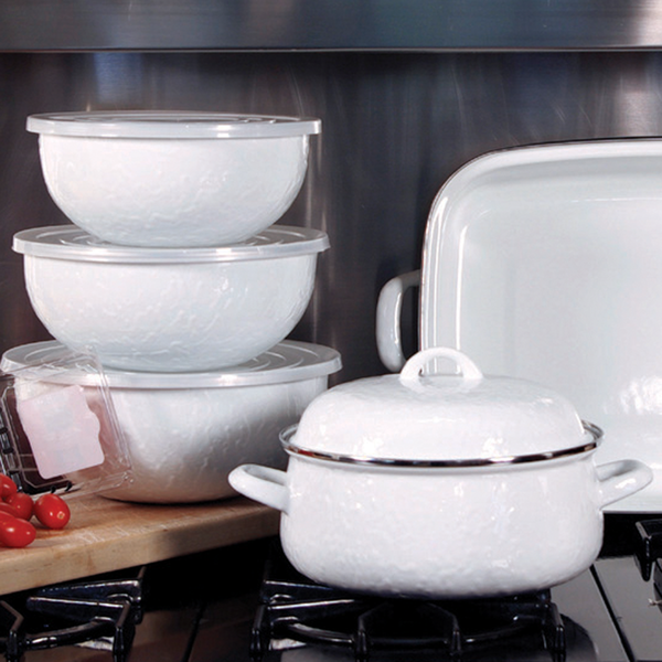 WW54 White on White Texture Mixing Bowls