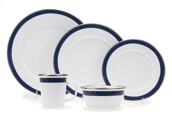 Bistro Blue Enamelware Collection by Golden Rabbit