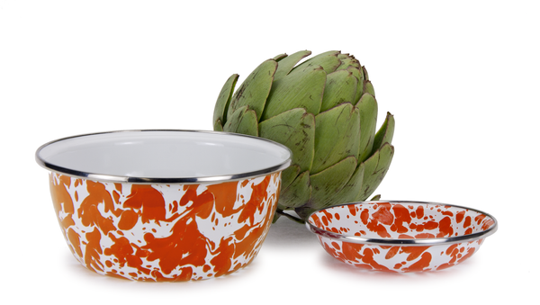 OR61 Enamelware Salad Bowl by Golden Rabbit