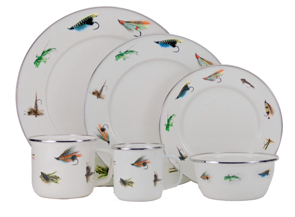 FF07 Fly Fishing Dinner Plate