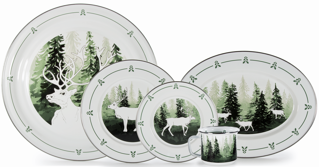Forrest Glen Enamelware Collection by Golden Rabbit