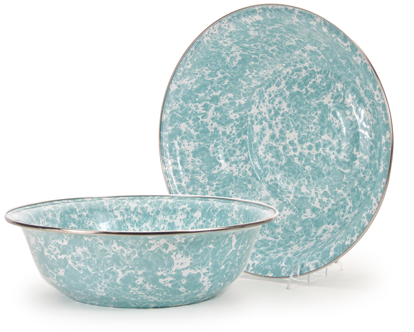 GL03 Sea Glass Swirl  Serving Basin