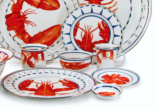 Lobster Enamelware Collection by Golden Rabbit