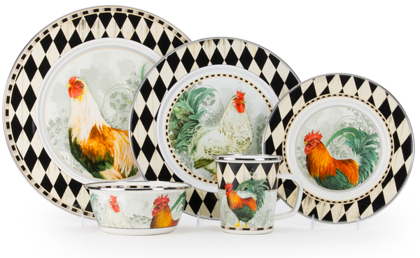 Rooster Royale Enamelware Collection by Golden Rabbit