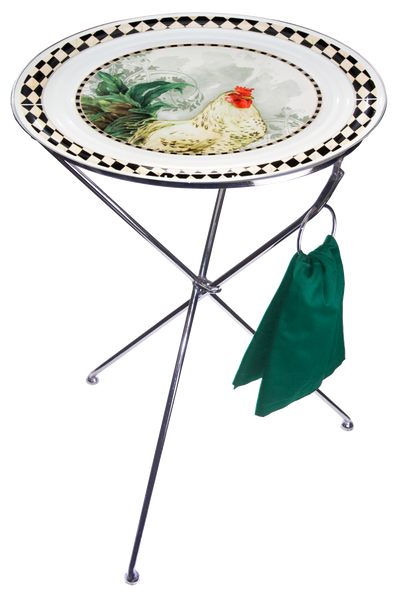 RS01 Rooster Royale Large Serving Tray Stand
