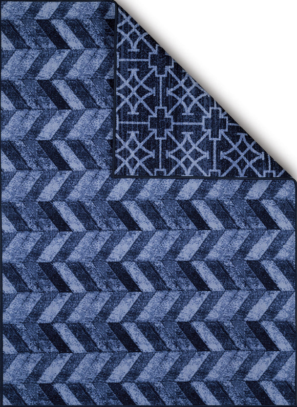 United Weavers - Encore Rug Collection - CUBIC WAVE BLUE (1420-10260)