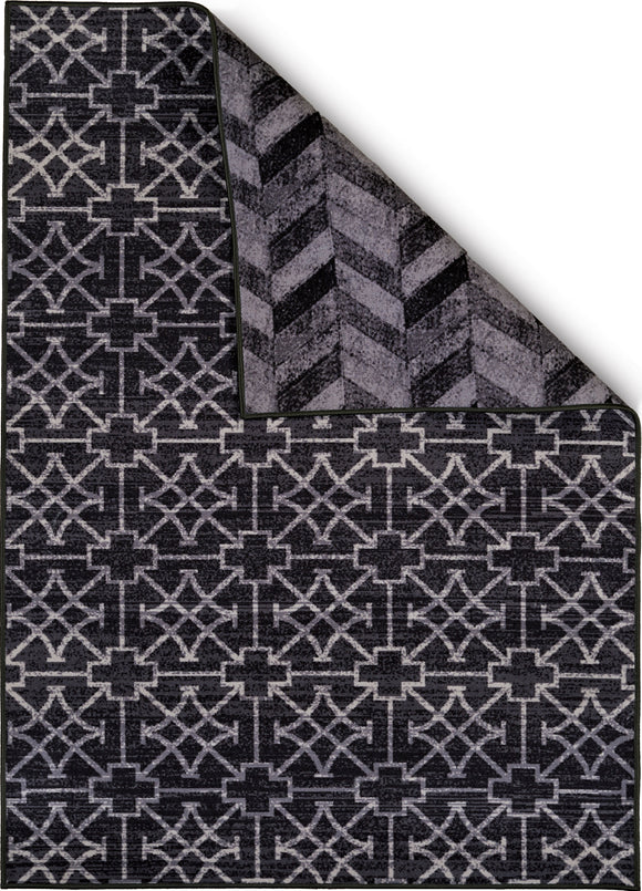 United Weavers - Encore Rug Collection - CUBIC WAVE BLACK (1420-10270)