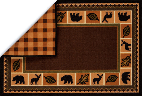 United Weavers - Encore Kitchen Rug Collection - WOODLAND PLAID (1421-10550)