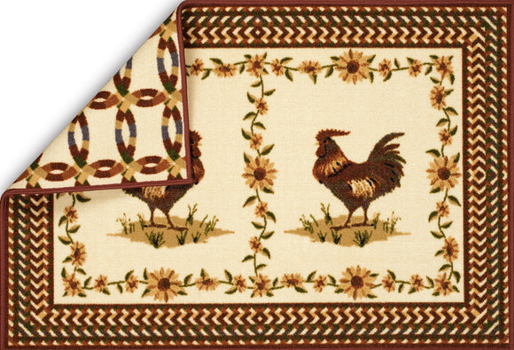 United Weavers - Encore Kitchen Rug Collection - ROOSTER RINGS (1421-10734)