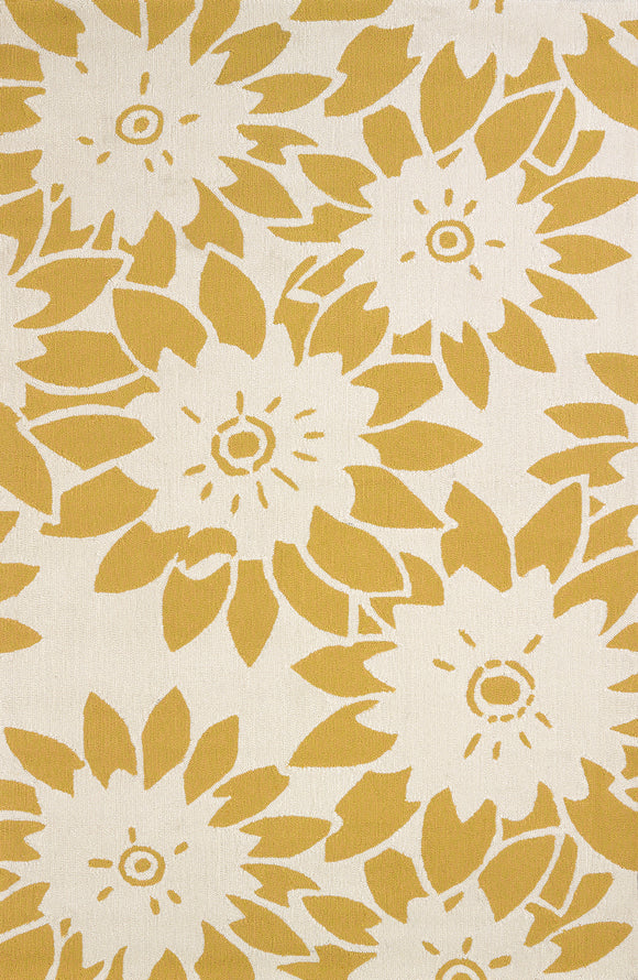 United Weavers - Atrium Rug Collection - GARDEN CANVAS YELLOW (1500-20612)