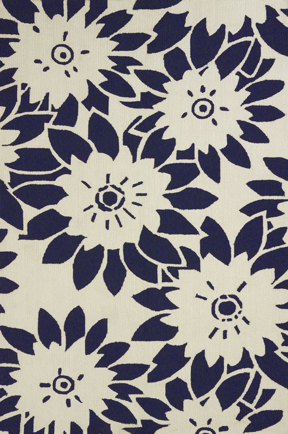 United Weavers - Atrium Rug Collection - GARDEN CANVAS NAVY (1500-20664)