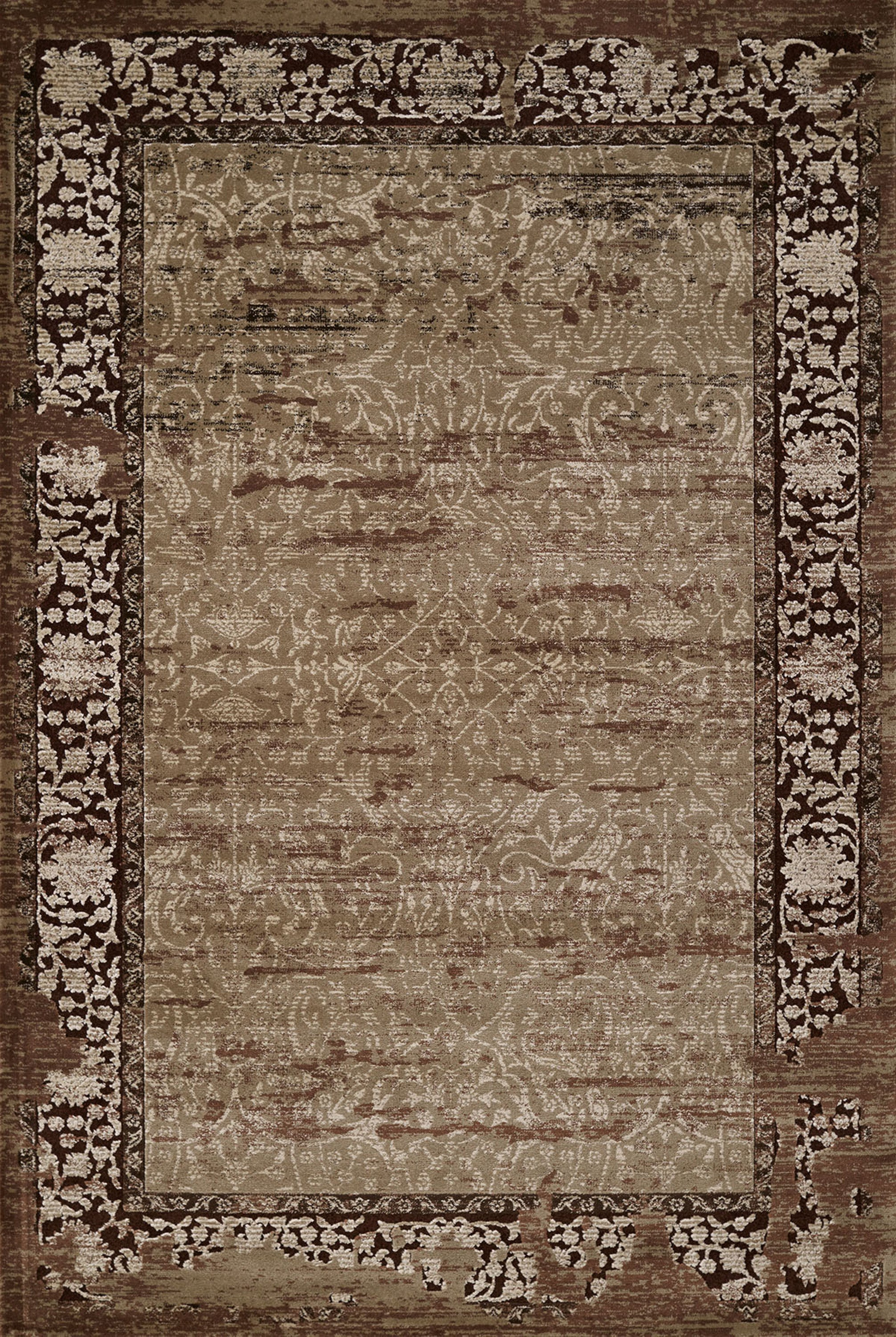 United Weavers - Weathered Treasure Rug Collection -RELIC LIGHT BROWN (1800-40252)