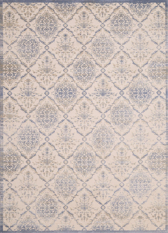 United Weavers - Dais Rug Collection - ELEGANT TRELLIS LIGHT BLUE (1820-30260)