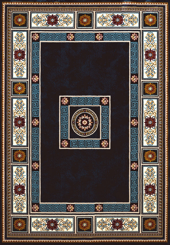 United Weavers - Antiquities Rug Collection -  ORIENTAL BORDER NAVY (1900-01064)