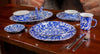 CB07S4 - Set of 1 Cobalt Swirl Dinner Plates Lifestyle 2