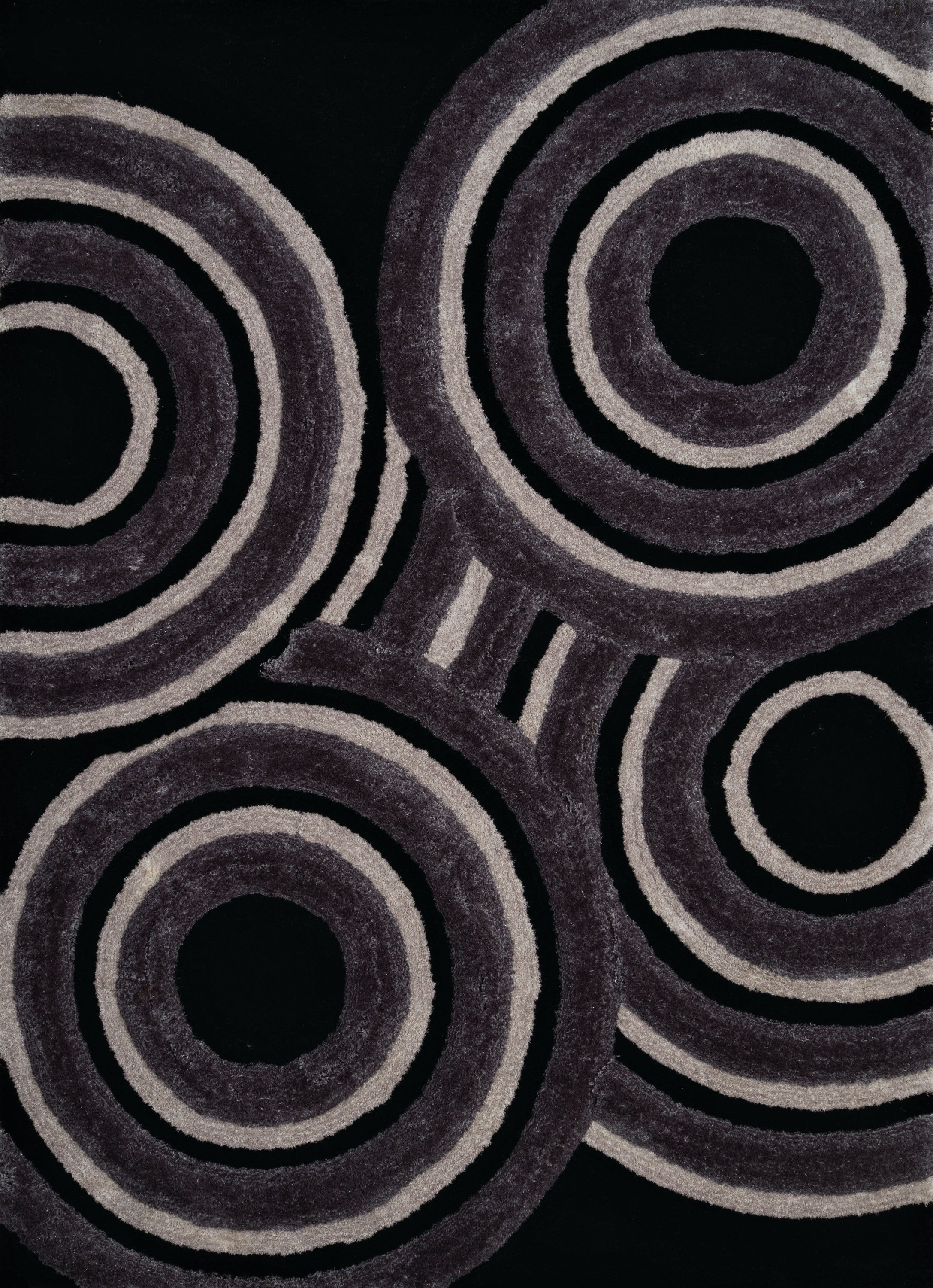 United Weavers - Finesse Rug Collection - RECORDS BLACK (2100-20570)