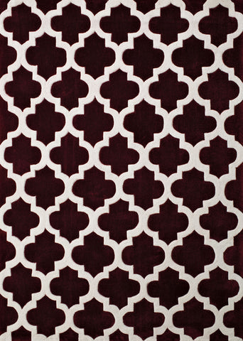 United Weavers - Seattle Rug Collection -  QUADS BURGUNDY(2200-10134)