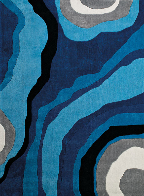 United Weavers - Seattle Rug Collection -  SHAPES BLUE (2200-10360)