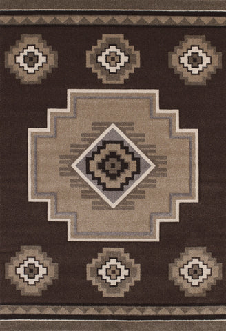 United Weavers - Townshend Rug Collection - MOUNTAIN BROWN (401-01250)