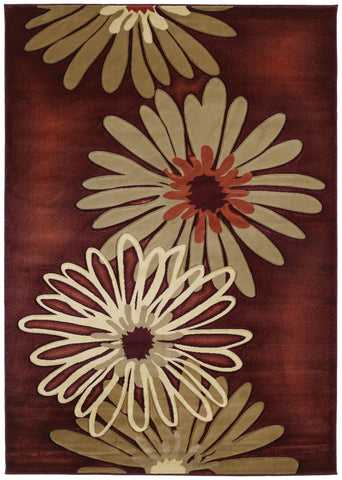 United Weavers - Contours Rug Collection - DAHLIA TERRACOTTA (510-20229)