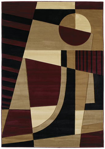 United Weavers - Contours Rug Collection - URBAN ANGLES BURGUNDY (510-20734)