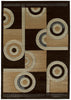 United Weavers - Contours Rug Collection - SPIRAL CANVAS CHOCOLATE (510-22451)