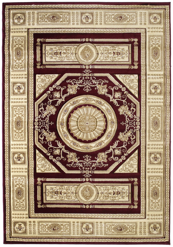 United Weavers - Contours Rug Collection - CAMRYN BURGUNDY (510-23734)