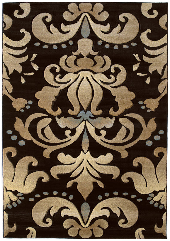 United Weavers - Contours Rug Collection - LOTUS SMOKE BLUE (510-24066)