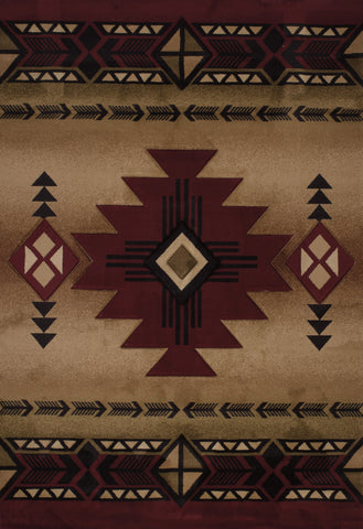 United Weavers - Contours Rug Collection - FLAGSTAFF BURGUNDY (510-27034)