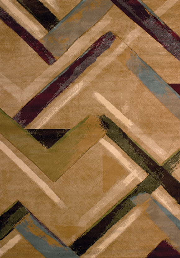 United Weavers - Contours Rug Collection - DIESEL BEIGE (510-28426)