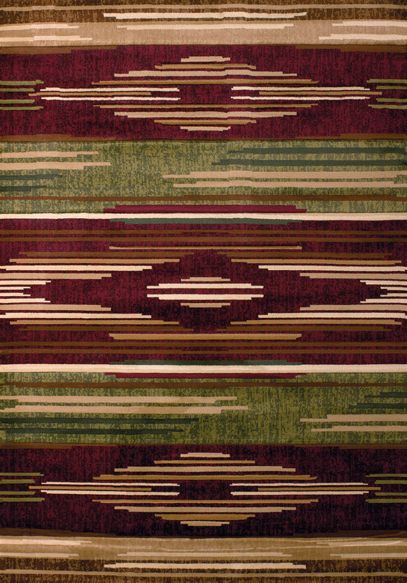United Weavers - Contours Rug Collection - NATIVE CHIC BURGUNDY (510-28634)