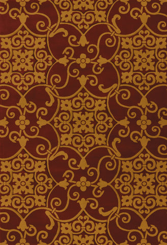 United Weavers - Contours Rug Collection - JULEP BURGUNDY (510-28734)