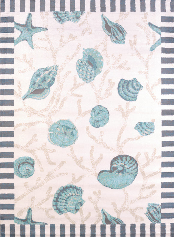 United Weavers - Regional Concepts Rug Collection - SHELLS BLUE (541-50660)