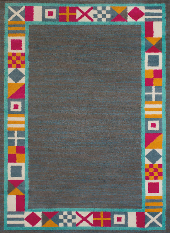 United Weavers - Regional Concepts Rug Collection -SIGNAL BORDER CHARCOAL  (541-51277)