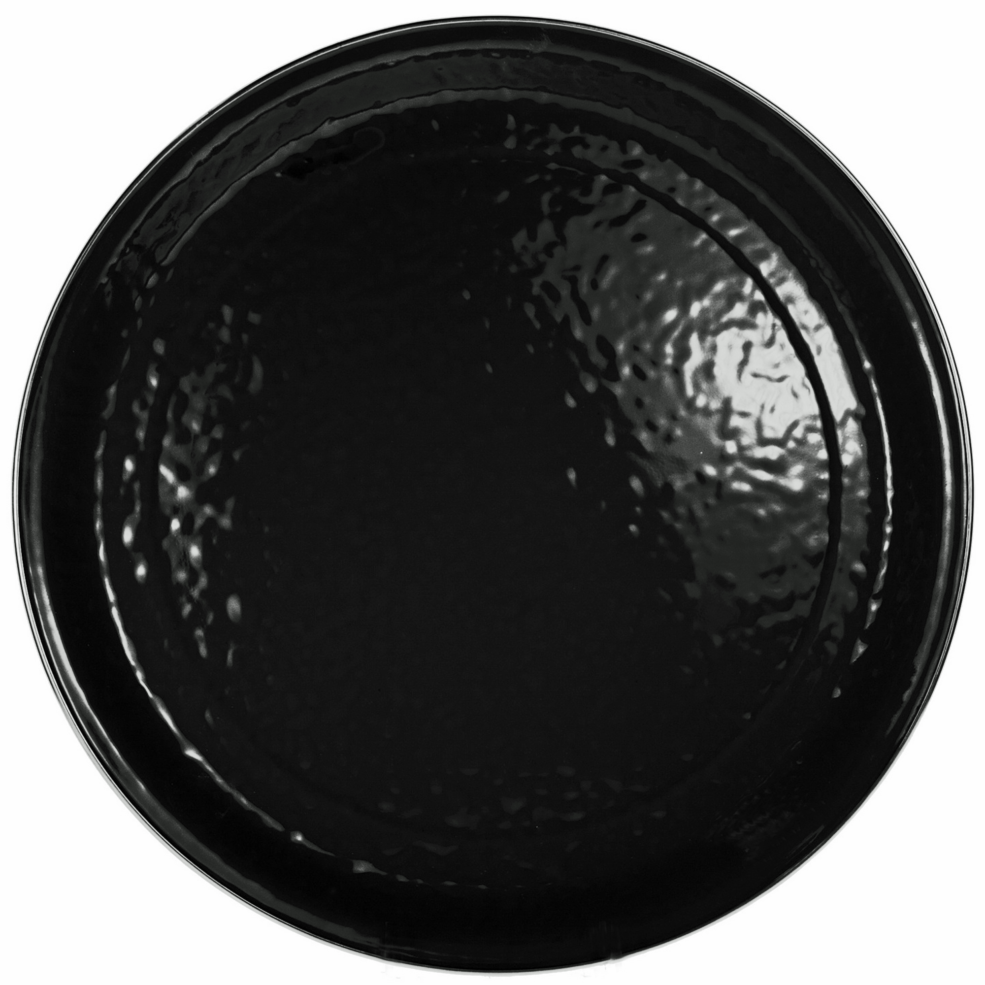 BK01 - Black on Black - Large 20 Inch Serving Tray