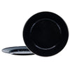 BK26S2 - Set of 2 - Enamelware Solid Black - Chargers