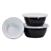 BK30 - Black on Black - Set of 3 Nesting Bowls